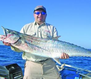 Steve Palmer with a Spanish mackerel caught out from Mackay.